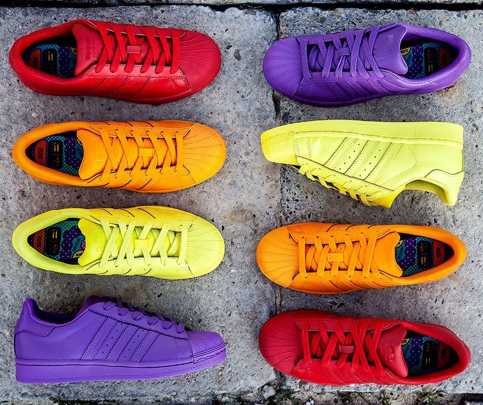 Adidas Superstar Supercolor : die Superstar von Pharrell Williams