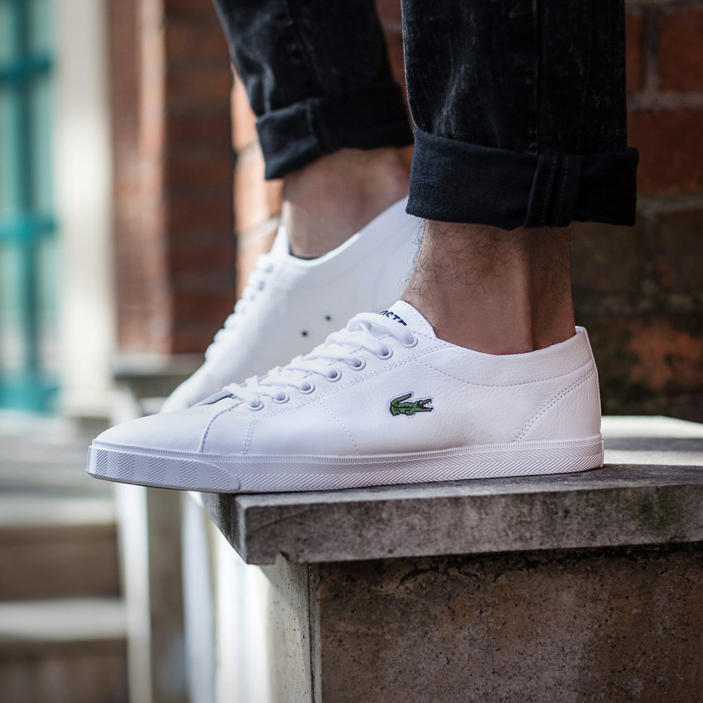 brand new f10d7 4e364 lacoste Weisse Schuhe - Si-Zone