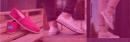 Wie soll man die Schuhe aus Material/Stoff reinigen?