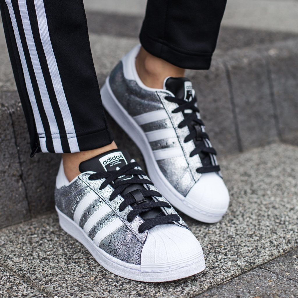 adidas Superstar silberne
